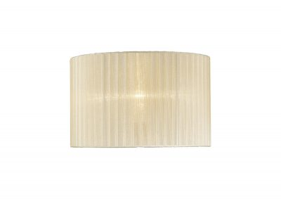 Diyas ILS31530 Florence Round Organza Shade Cream 360mm x 230mm, Suitable For Table Lamp