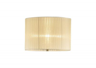 Diyas ILS31531 Florence Round Organza Shade Cream 380mm x 260mm, Suitable For Floor Lamp