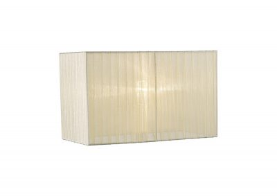 Diyas ILS31532 Florence Rectangle Organza Shade, 380x190x230mm, Cream, For Table Lamp