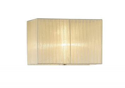Diyas ILS31533 Florence Rectangle Organza Shade, 400x210x260mm Cream, For Floor Lamp