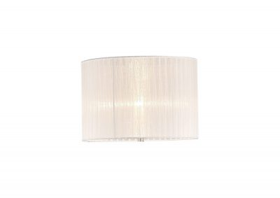 Diyas ILS31535 Florence Round Organza Shade White 380mm x 260mm, Suitable For Floor Lamp