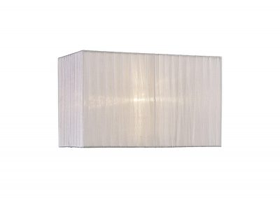 Diyas ILS31536 Florence Rectangle Organza Shade, 380x190x230mm, White, For Table Lamp
