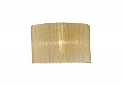 Diyas ILS31720 Florence Round Organza Shade Soft Bronze 360mm x 230mm, Suitable For Table Lamp