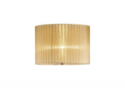 Diyas ILS31721 Florence Round Organza Shade Soft Bronze 380mm x 260mm, Suitable For Floor Lamp