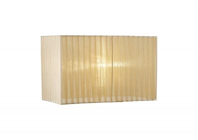 Diyas ILS31722 Florence Rectangle Organza Shade, 380x190x230mm, Soft Bronze, For Table Lamp