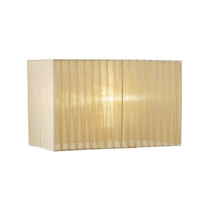 Diyas ILS31723 Florence Rectangle Organza Shade, 400x210x260mm, Soft Bronze, For Floor Lamp