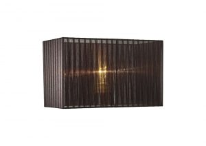 Diyas ILS31726 Florence Rectangle Organza Shade, 380x190x230mm, Black, For Table Lamp