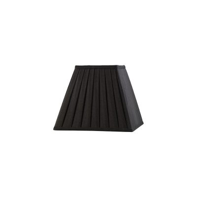 Diyas ILS20221 Leela Square Pleated Fabric Shade Black 100/200mm x 156mm