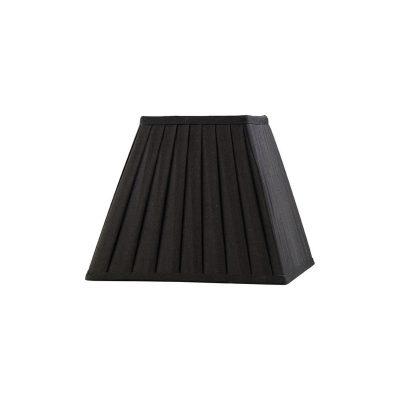 Diyas ILS20222 Leela Square Pleated Fabric Shade Black 138/250mm x 206mm