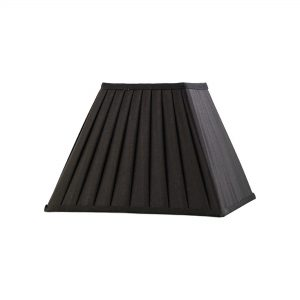 Diyas ILS20223 Leela Square Pleated Fabric Shade Black 150/300mm x 225mm