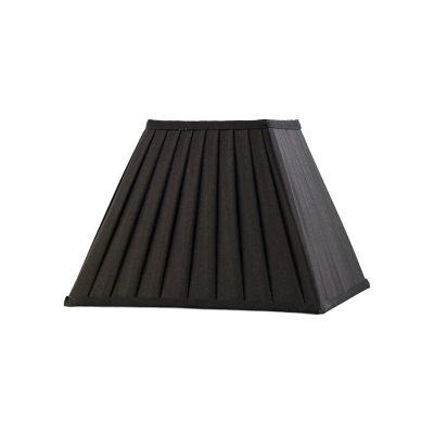Diyas ILS20223 Leela Square Pleated Fabric Shade Black 150/300mm x 225mm