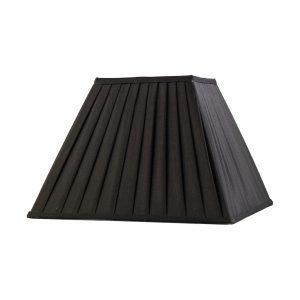 Diyas ILS20224 Leela Square Pleated Fabric Shade Black 175/350mm x 250mm
