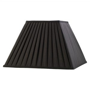 Diyas ILS20225 Leela Square Pleated Fabric Shade Black 200/400mm x 275mm
