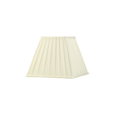 Diyas ILS20227 Leela Square Pleated Fabric Shade Ivory 138/250mm x 206mm