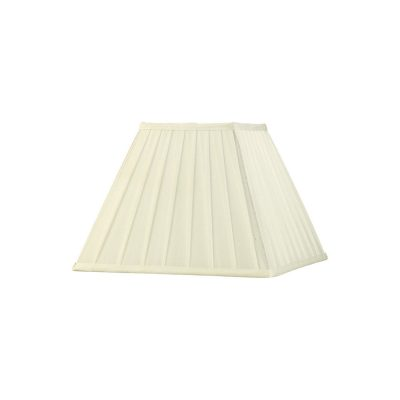 Diyas ILS20228 Leela Square Pleated Fabric Shade Ivory 150/300mm x 225mm