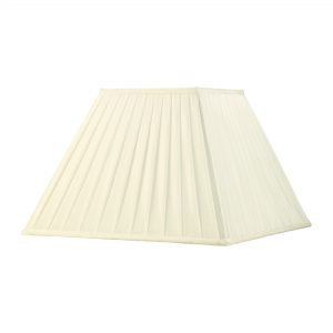 Diyas ILS20230 Leela Square Pleated Fabric Shade Ivory 200/400mm x 275mm