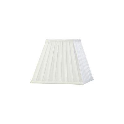Diyas ILS20232 Leela Square Pleated Fabric Shade White 138/250mm x 206mm