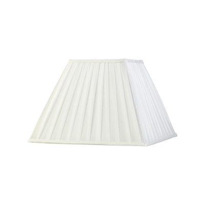 Diyas ILS20234 Leela Square Pleated Fabric Shade White 175/350mm x 250mm