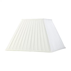 Diyas ILS20235 Leela Square Pleated Fabric Shade White 200/400mm x 275mm