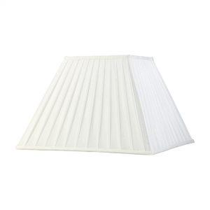 Diyas ILS20235 Leela Square Pleated Fabric Shade White 200/400mm x 275mm