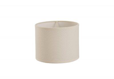 Diyas ILS20291 Victoria Round Fabric Shade Ivory Cream 200 x 160mm