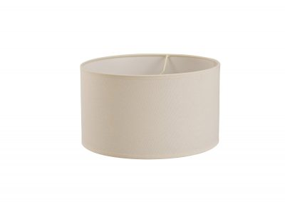 Diyas ILS20292 Victoria Round Fabric Shade Ivory Cream 300mm x 170mm
