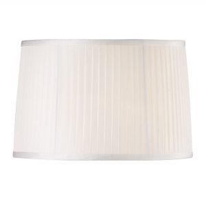 Diyas ILS31214 Willow Fabric Shade White 360/400mm x 260mm