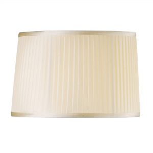 Diyas ILS31224 Willow Fabric Shade Cream 360/400mm x 260mm